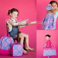 SALE Zoey Preschool Travel Bag Zoey Preschool Travel Tote Zoey Blanket Zoey Preschool Tote Viv and Lou Preschool