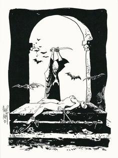 """Bernet, Jordie - lithograph  """"Nosferatu"""" (2007) - W.B."""