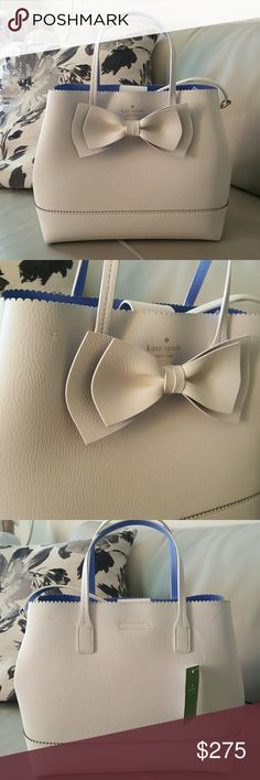 !!OFFERS!! New Kate Spade Bow Purse *New *Super Cute *Comes with straps ( can be taken off ) *Retails for 329 *1 Zipper area, and 1 large pocket *Open to ALL REASONABLE offers! kate spade Bags