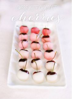 ombré white chocolate cherries