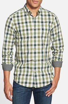 Men's Ben Sherman Extra Fit Space Dye Gingham Woven Shirt