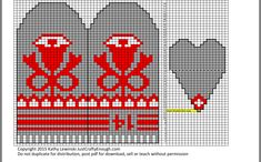 Knitted Mittens Pattern, Knit Mittens, Cross Stitch, Knitting, Christmas Scenes, Blog, Mini, Fingerless Gloves, Gloves