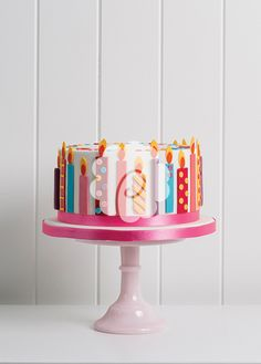 Candy Candles Cake