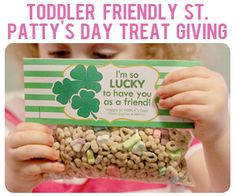 St. Patrick's Day Treat Bag Tag Printables- Fill with Lucky Charms for a toddler friendly treat!