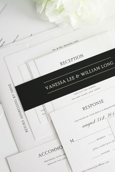this typography is so well done   Shine Wedding Invitations