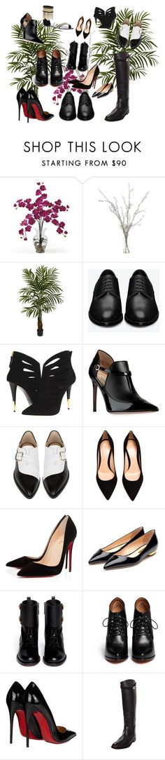 """""""2016 shoes"""" by marujia ❤ liked on Polyvore featuring Nearly Natural, Yves Saint Laurent, Giuseppe Zanotti, Valentino, Bionda Castana, Gianvito Rossi, Christian Louboutin, Rupert Sanderson, Givenchy and Hermès"""