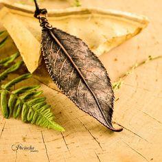 Cherry tree leaf pendant real plant bridesmaid leaf