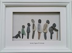 The Seven Ages of Woman Depicted in Sea Glass & Stone Cor…