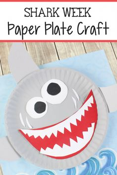 Shark Paper Plate Craft For Kids - The Relaxed Homeschool