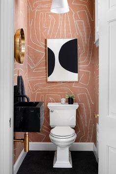 Home Interior Design .Home Interior Design Bad Inspiration, Bathroom Inspiration, Home Decor Inspiration, Decor Ideas, Bathroom Inspo, Mauve Bathroom, Funky Bathroom, Black Bathroom Decor, Black White Bathrooms