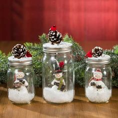 Awesome Christmas deco info are offered on our site. Read more and you wont be sorry you did. Mason Jar Christmas Crafts, Mason Jar Crafts, Mason Jar Diy, Diy Christmas Gifts, Christmas Projects, Holiday Crafts, Christmas Time, Mason Jar Snowman, Lace Mason Jars