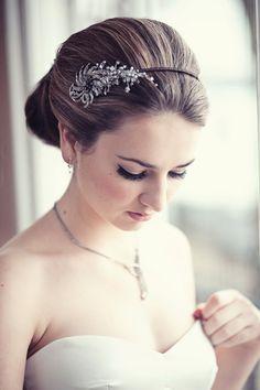 Hair & jewelled headband by me. Photography by Emma Lucy. Dress by Sabina Motasem. Make up Sam Basham