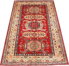 Today's Kazak is a modern shape of old Caucasian rugs which strictly adheres to traditional design elements of the Caucasus.  http://www.alrug.com/4611