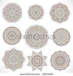 Set Mandalas. Round Ornament Pattern