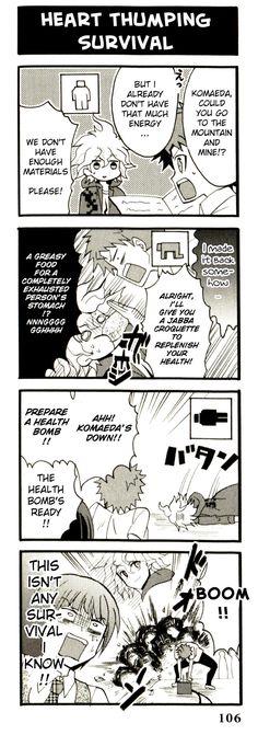"""Heart Thumping Survival"" from the Super Dangan Ronpa 2 Yonkoma Kings, Vol. 4."