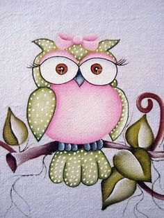 Girly owl would be cute on a card Owl Patterns, Applique Patterns, Tole Painting, Fabric Painting, Wal Art, Beautiful Owl, Cute Owl, Baby Quilts, Owl Quilts