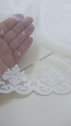 Tül Perde - Beyaz Renk- Kdk Örme - 4012-01