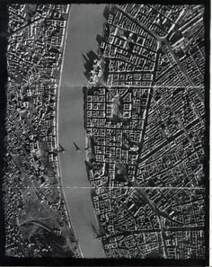Aerial photo of Budapest after seige in WWII. Note bombed out bridges and heavy damage on Pest embankment from shelling from Gellért hill. The Siege, Peaceful Life, Red Army, Modern History, Family Events, Budapest Hungary, Warsaw, Military History, Aerial View