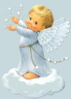 Dibujo de angeles bebés - Imagui