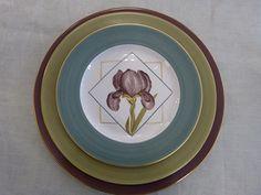 Assiettes Iris (printemps)