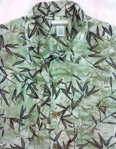3101de4c Breakwater Hawaiian Green XL Rayon Mens Short Sleeve Shirt Mens Hawaiian  Shirts, Green Shirt,