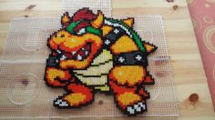 Bowser Mario aus Bügelperlen - Hama perler beads