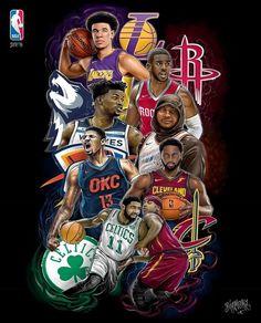 Illustration: @bigmora @piradosbrand NBA 2017/18 season is HERE! Who you got? . . . #bigmora #pirados #piradosbrand #art #drawing #illustration #digitalart #basketball #basketballart #nba2k18 #lakers #celtics #cavaliers #timberwolves #okcthunder #rockets #nbaartwork #hoopsnation #nikebasketball