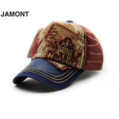 Sale JAMONT Vinatge Stylish Pure Cotton Embroidery Pattern Sports Outdoor Camping Duck Tongue Hat Baseball Cap 9865