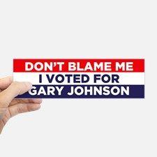I voted for Johnson Bumper Sticker for