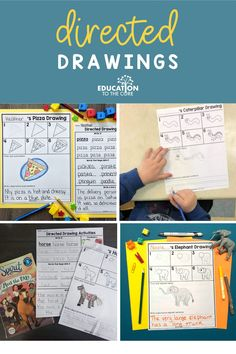 """""""My kids love using this resource. I made the pages into books and the children work in it after they complete their assignments. Love it!"""" -Kimberly G. Second Grade Teacher, First Grade Classroom, Kindergarten Classroom, Drawing Activities, Vocabulary Activities, Kindergarten Activities, Directed Drawing, Writer Workshop, Working With Children"""
