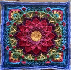 Garden square crochet