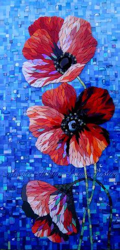 Norma Rodiao Love the background Mosaic Diy, Mosaic Garden, Mosaic Crafts, Mosaic Projects, Glass Mosaic Tiles, Art Projects, Mosaic Mirrors, Mosaic Ideas, Mosaic Wall