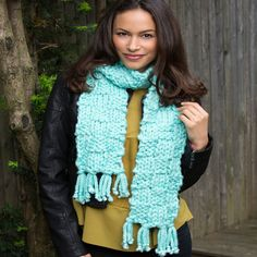 One Sitting Scarf - free pattern - very nice for a 1st project - and you get to show it off! - KNIT