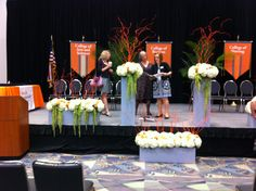 Podium stage floral display