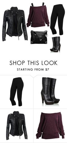 """""""Jen2"""" by personaggia ❤ liked on Polyvore featuring Scholl, MuuBaa, Hervé Léger, Boohoo and MICHAEL Michael Kors"""