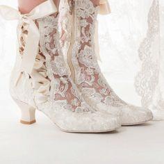 Vintage Wedding Theme, Vintage Bridal, Bridal Heels, Bridal Lace, Victorian Boots, Lace Ankle Boots, Wedding Boots, Romantic Lace, Wedding Dresses