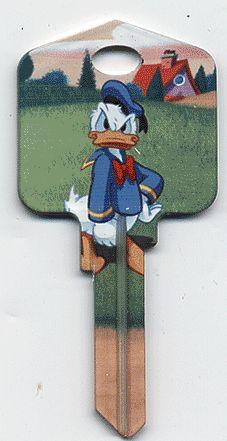 Donald Duck Disney House Keys