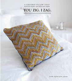 Super hot chevron pillow knitting pattern
