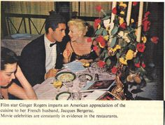 Ginger Rogers and Jacques Bergerac A Fine Romance, Fred And Ginger, Rancho Mirage, Ginger Rogers, Fred Astaire, Golden Age Of Hollywood, Author, Singer, Actresses