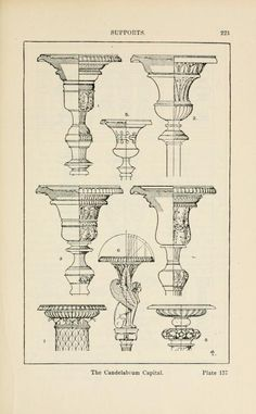 A handbook of ornament supports the candelabrum capital page 223