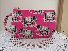 Smart phone Elephants on Pink Case Gadget by Antiquebasketlady