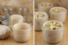 These are individual-sized pies made in little glass jars that can go straight from your freezer to your oven to your mouth. SO cute. You can make these with store-bought crust and canned filling or jazz it up with homemade like we do. And just for added cuteness we teamed up with crafting expert Lolly …