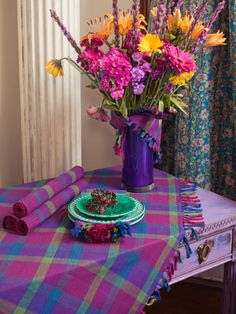 Superior Jewel Plaid Tablecloth | Table Linens U0026 Kitchen, Tablecloths :Beautiful  Designs By April Cornell