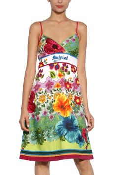 Desigual Dress Kansas Motif Floral, Summer Fashion Trends, Lovely Dresses,  Going Out Clothes d79be440ac5a