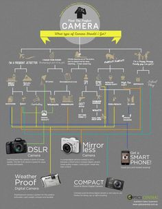 What type of camera should you buy? Depends on what you need it for. Here is a handy camera shopping guide.