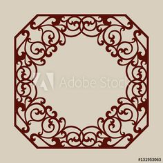 Lace ornament. Template for decorative panels. The image is suitable for printing, engraving, laser cut paper, wood, metal, stencil making