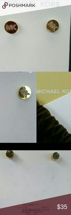 MK earrings MK signature earrings with rhinestone embellishments Michael Kors Jewelry Earrings