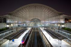 """Gwangmyeong Station - Originally intended to be the Seoul terminus of KORAIL's KTX lines, Gwangmyeong Station is one of Korea's grandest, most beautiful train stations. Its futuristic architecture and sheer scale have led some observers to dub it """"Gwangmyeong Airport."""""""