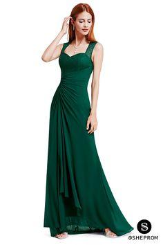 Simple Dark Green Long Dresses