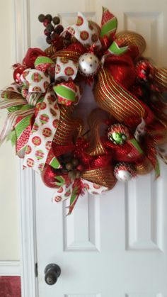 Christmas Wreath i created  For sale on Etsy/wreaths bows and things